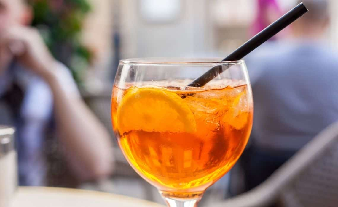 Aperol spritz is the perfect way to unwind after exploring rome on foot