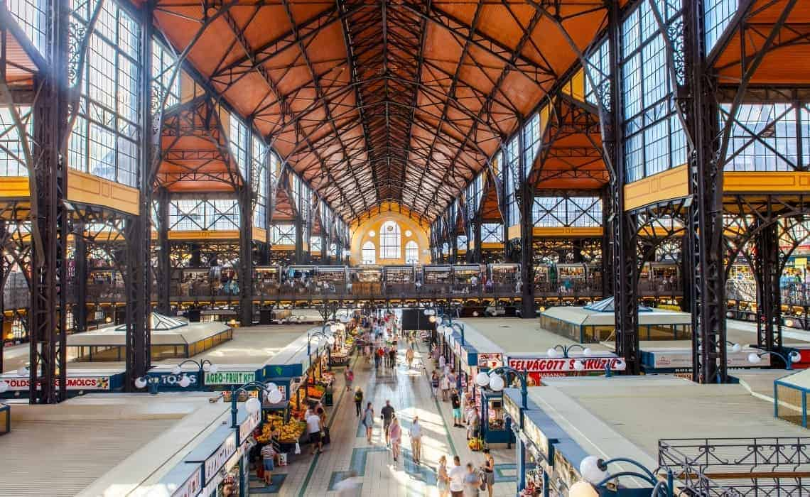 The Central Market is high the foodie list on a Budapest 1 day Tour