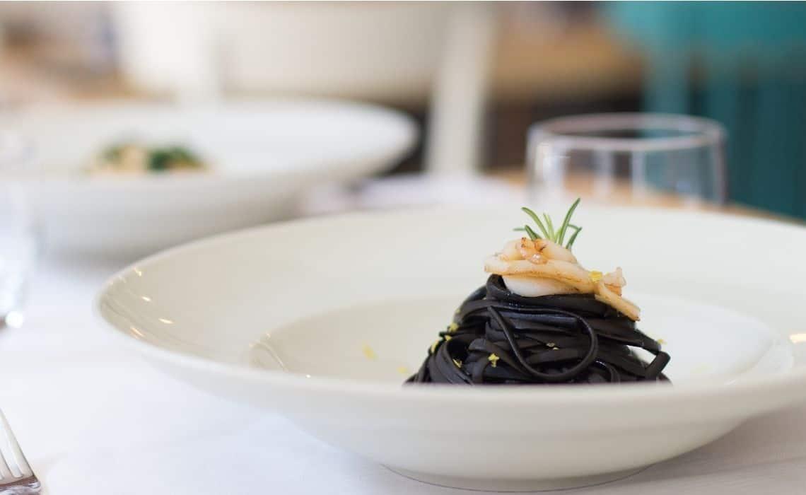 Squid ink Pasta in Venice