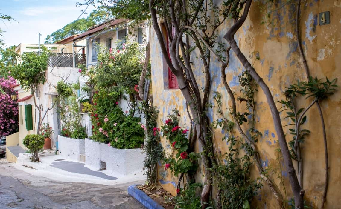 Stay in the Plaka neighborhood on your athens self guided walking tour