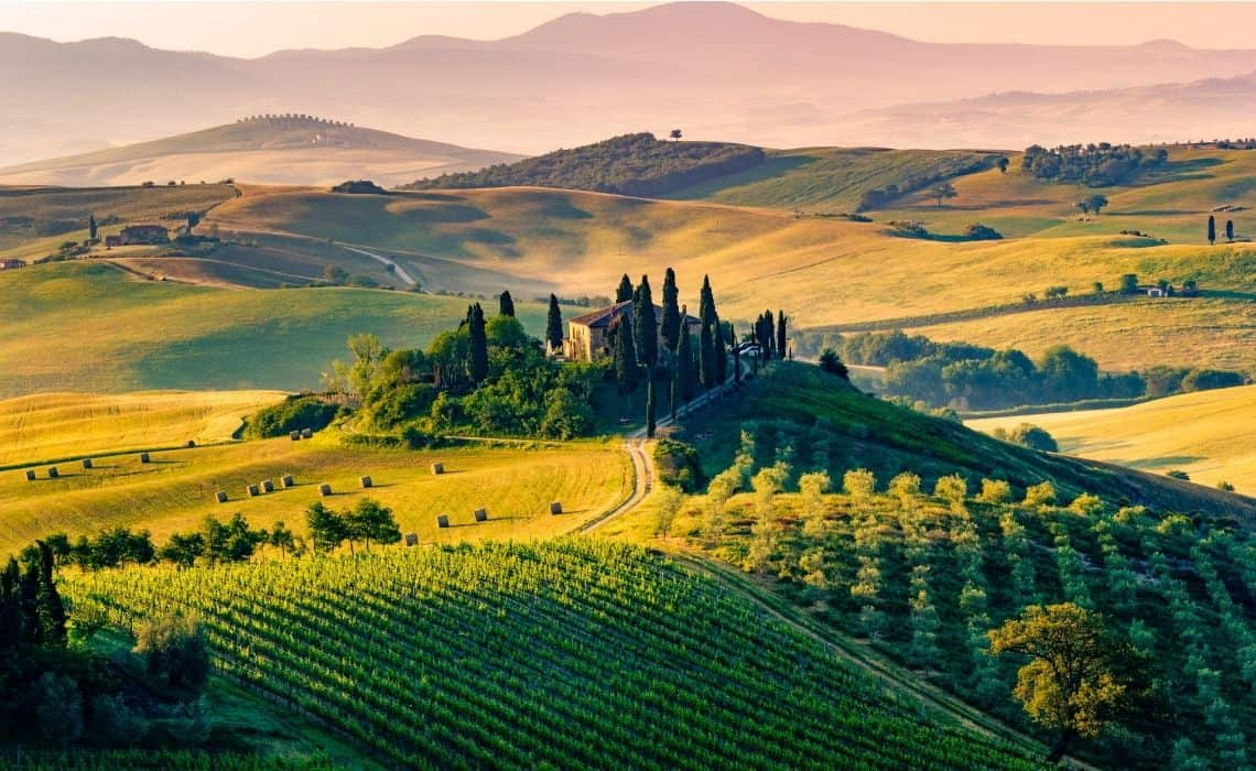 The beauty of the Tuscan countryside is an easy day-trip from Florence