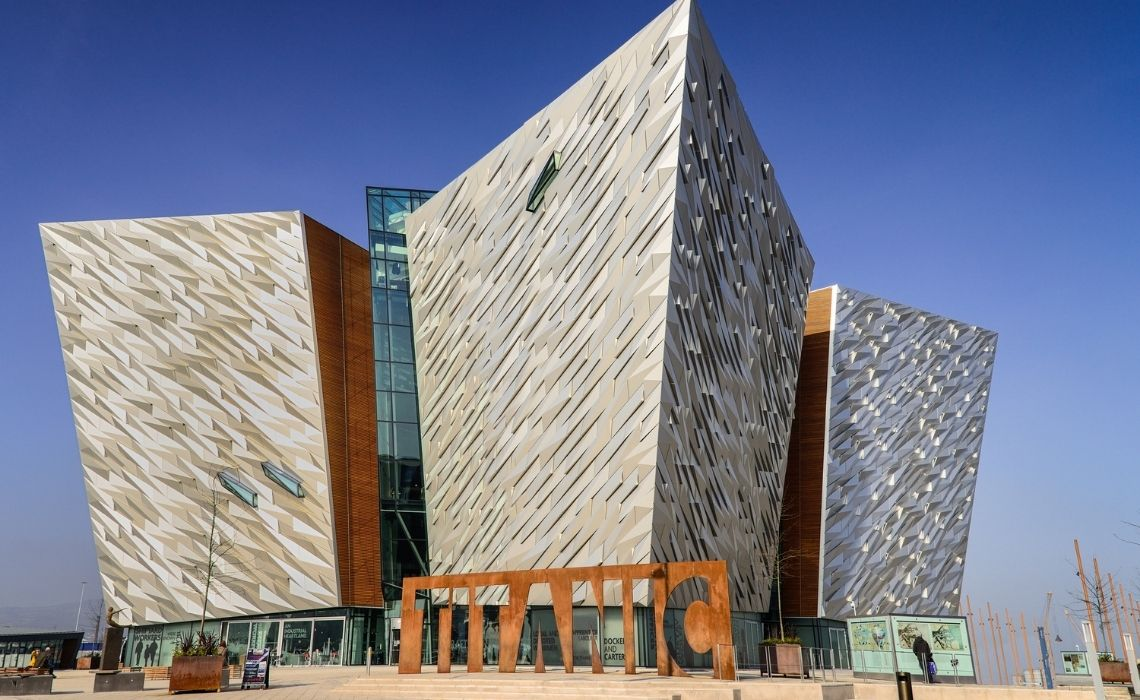 The Titanic Museum on a walking tour of Belfast