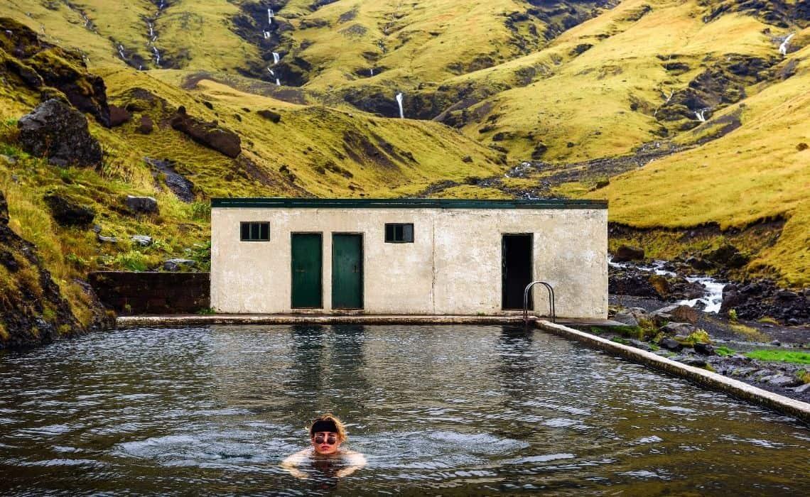 geothermal pool in Iceland