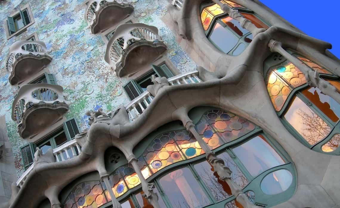 Take a self guided Gaudi walking tour to see Casa Batllo in Eixample, Barcelona