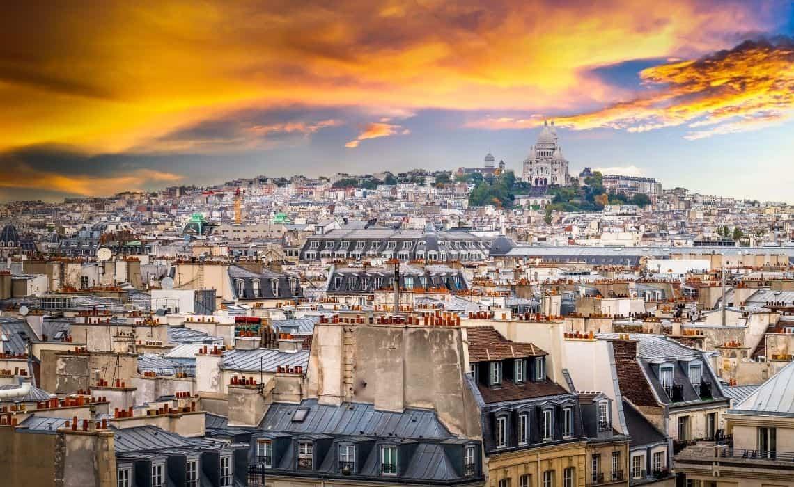 self guided walking tours Paris panorama view