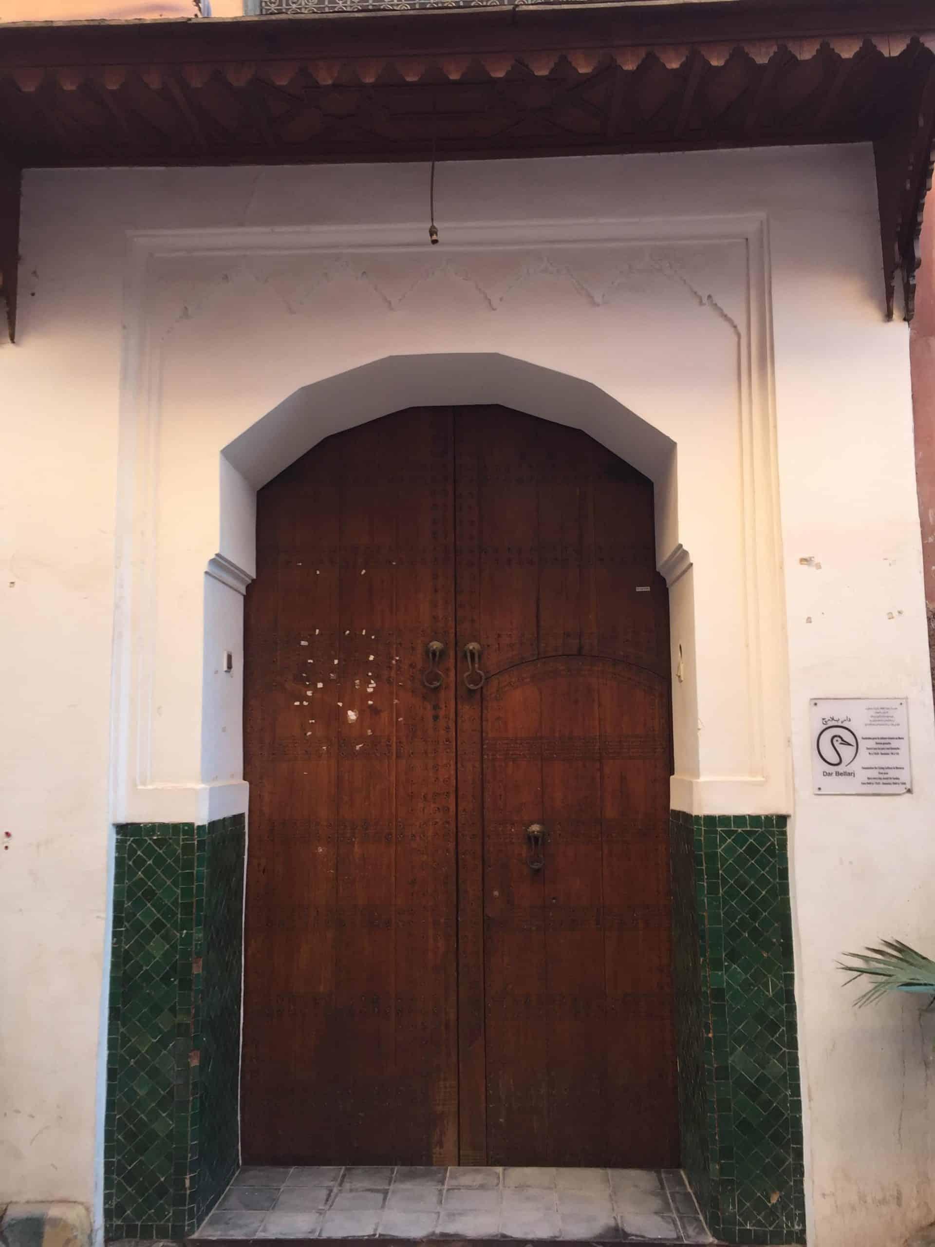 marrakeshsouksandscholars_1) Dar Bellarj